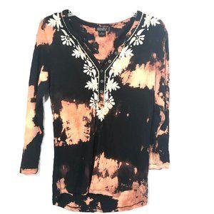 LUCKY BRAND X Custom Acid Wash  Black Tee Shirt